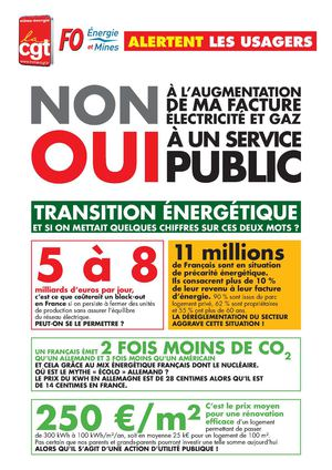 transition énergetique Tract aux usagers