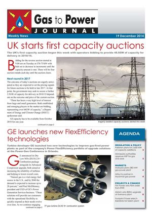 Gas to Power Journal - Weekly News - 86 - 2014 December 19