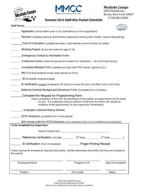 2015 Hire Packet
