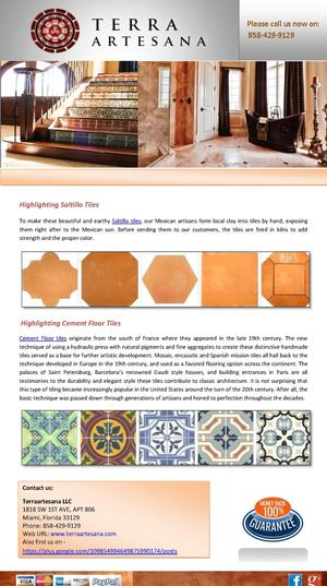 Terra Artesana Highlighting Mexican Tiles