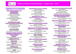 Associations En Requistanais 2014