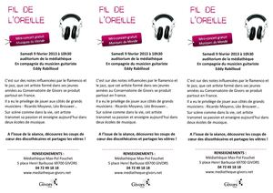Flyer Fil De L'oreille
