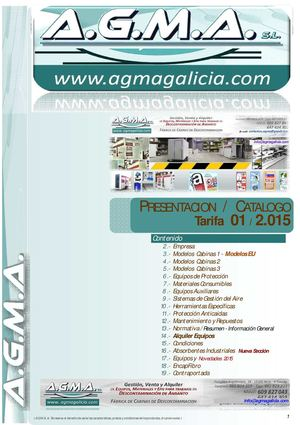 1 AGMA  Catalogo 2015 Sp