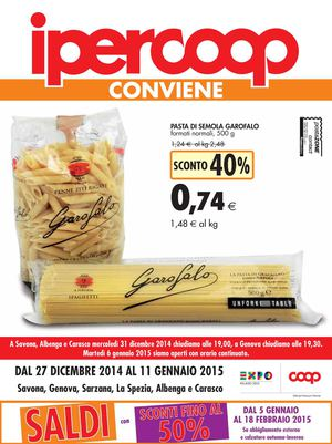 Calaméo - Volantino Iper Coop Liguria 27 Dicembre Al 11 Gennaio