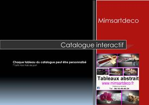 Catalogue Interactif Mimsartdeco