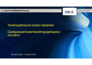 02 – Tendinopathies du tendon calcanéen