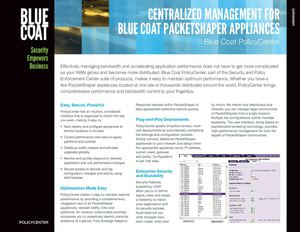 Blue Coat - Gestion - Policy Center