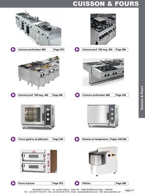 Catalogue Cuisson SOVEMATIC