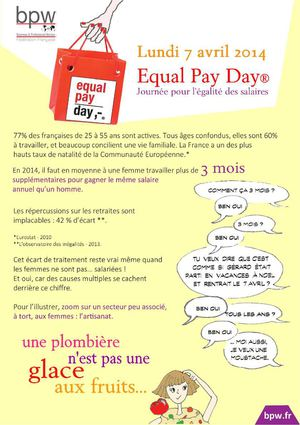 6. femmes artisanes Equal pay day 2014