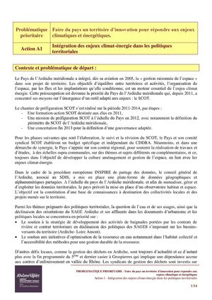 Fiches Actions Avenant 1