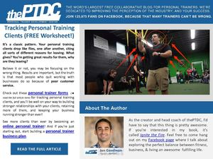 Worksheet client personal trainer 11+ Personal