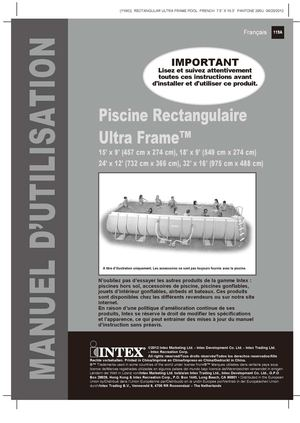 Calaméo - Notice De Montage Piscine Tubulaire Ultra Frame