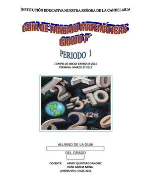 Calaméo - Guia Matematicas Septimo 1p