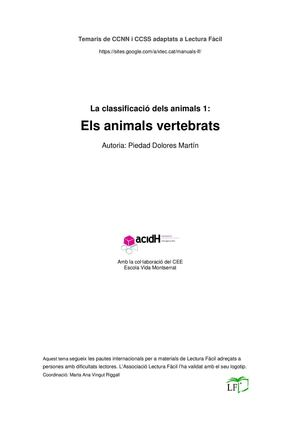 Animals Vertebrats