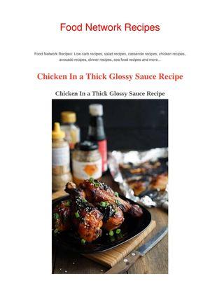 Calamo Teriyaki Chicken Recipe Food Network Recipes