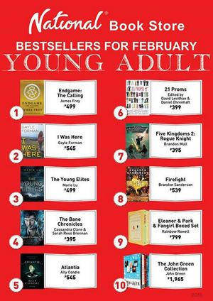 Young adult bestsellers