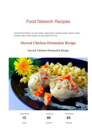 Calamo Chicken Drumstick Recipe Food Network Recipes