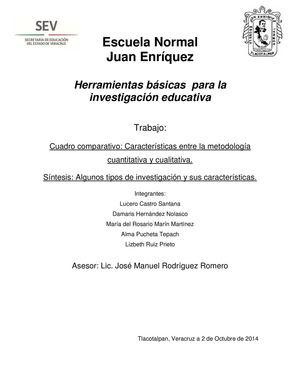 Calameo Caracteristicas Entre La Metodologia Cuantitativa Y La