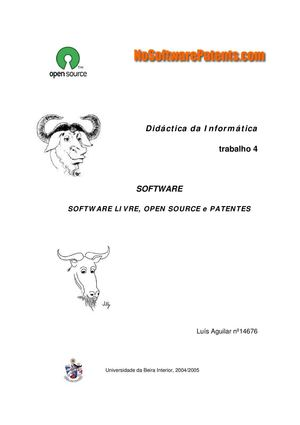 Software Livre E Patentes