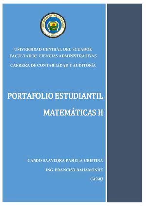 Calaméo - Portafolio Del Estudiante (Matemáticas) Ca2 03