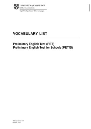 84669 Vocabulary List