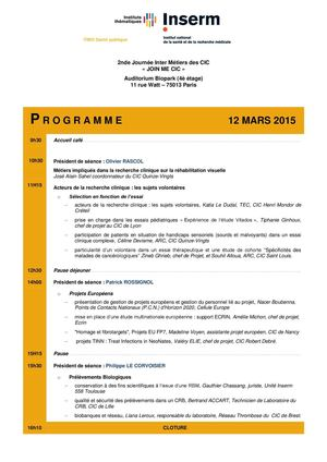 Reseau - Programme Join Me Cic 2015