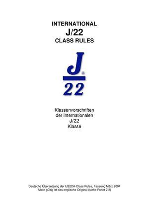 Calaméo - J/22 Classrules De