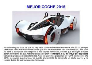 Mejor Coche 2015