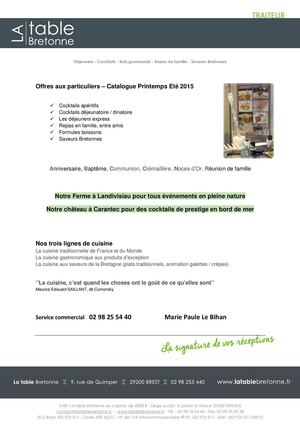 Catalogue Particuliers Printemps Ete 2015