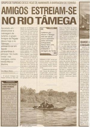 Noticia Jornal Norte Desportivo - Descida do Tamega