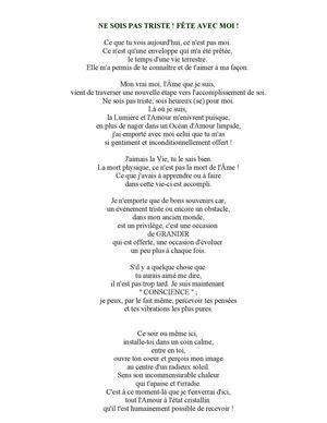 Calaméo Ne Sois Pas Triste Texte Sur La Mort