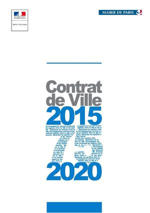 Contrat Ville Parisien 2015 2020 Version Finale