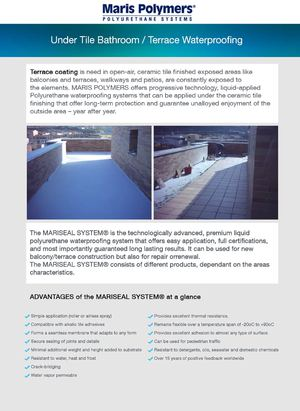 Terrace Coating - Maris Polymers