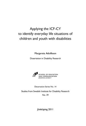 Dissertation in Disability Research