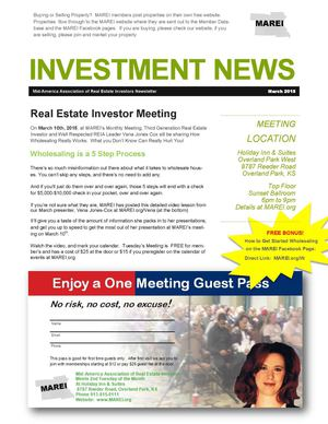 The RE Investment News:  March 2015