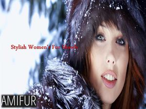 Stylish Women's Fur Shawls
