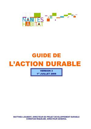 Guide De L'action Durable Christian Riquelme Et Matthieu Joubert