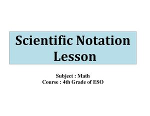 Scientific Notation - A CLIL Experience