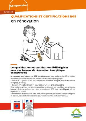 Fiche Qualifications Certifications Rge Renovation