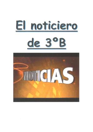 Noticiero 3ºb Primaria