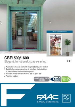 GBF 1500-1600 Automatic balanced door with integrated anti-panic system GB