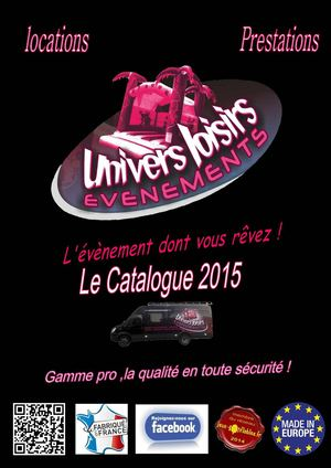 Catalogue Univers Loisirs Evenements