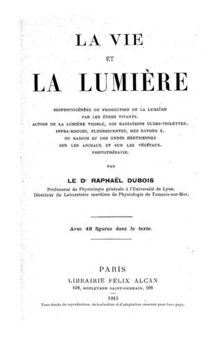Calaméo - - La Vie Et La Lumière -RAPHAËL DUBOIS 1914 050418544a5f