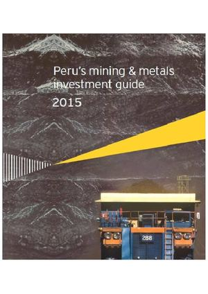 Demo : Peru Mining Metals Investment Guide 2015