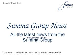 Summa Group News 2015 PT3