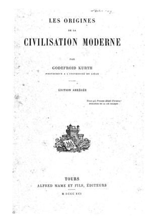 Calameo Les Origines De La Civilisation Moderne Godfroid Kurth 1841