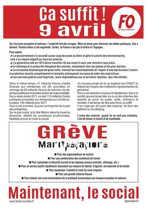 Tract 9 Avril 2015 - Ça suffit!
