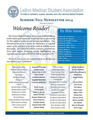 LMSA National Newsletter, Summer/Fall 2014 Edition