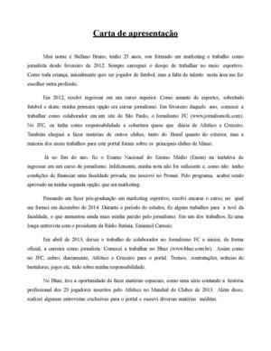 Calaméo Carta De Apresentação