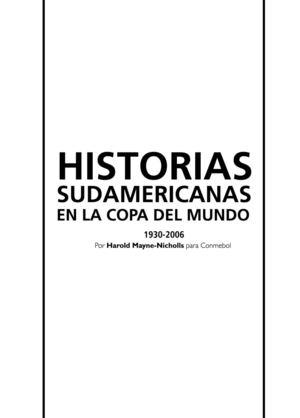 new arrivals 95547 1799c Historias Sudamericanas En Las Copas Del Mundo